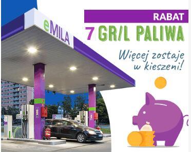 Rabat 7gr / litr dowolnego paliwa, eMila