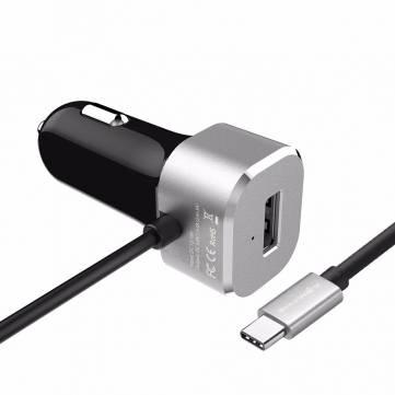 Ładowarka samochodowa BlitzWolf® BW-C3 5V 5.4A 27W USB Type C 3A