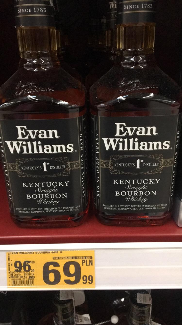 Bourbon whiskey EVAN WILLIAMS 1L