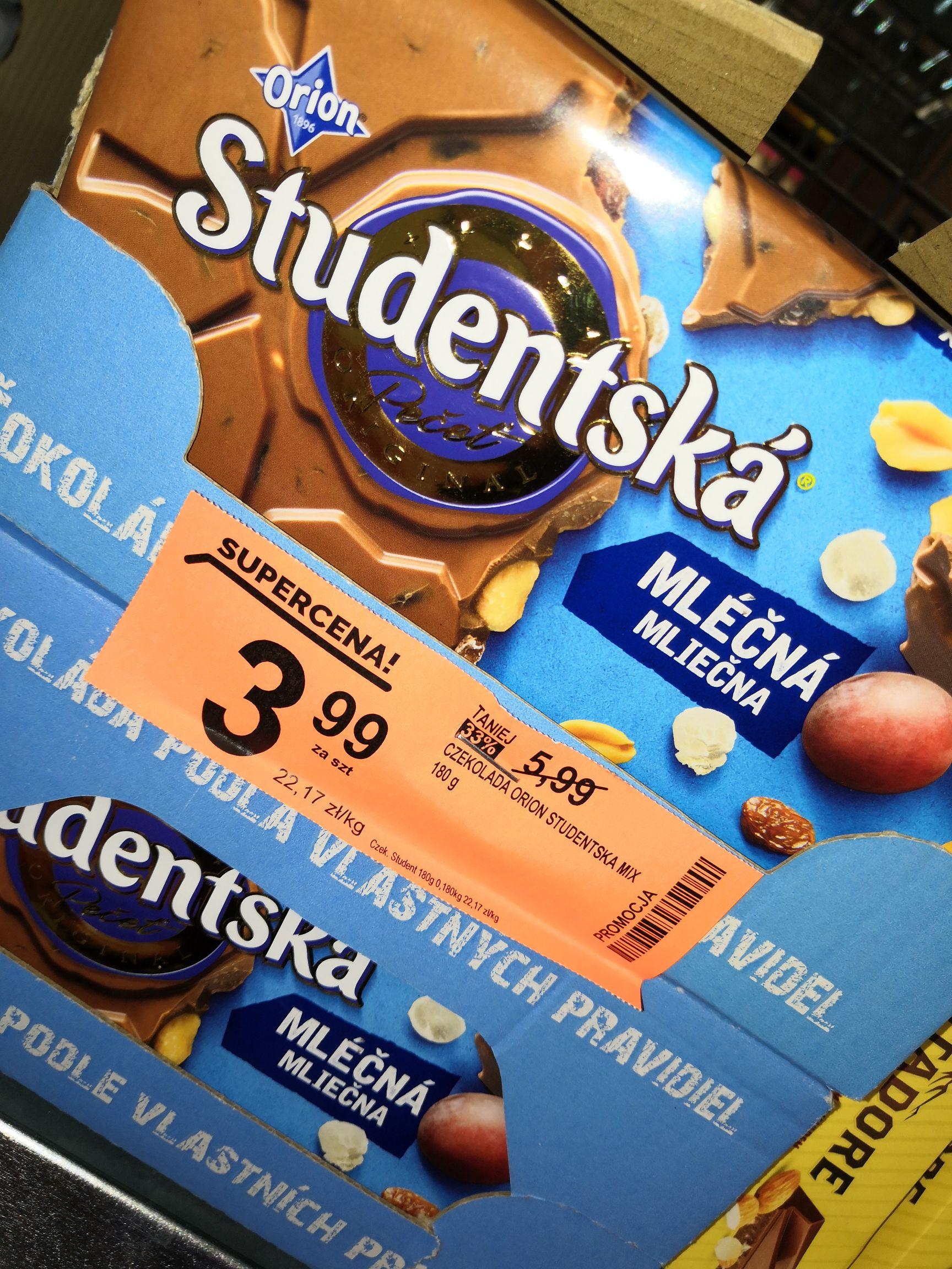 Biedronka, Studentska czekolada