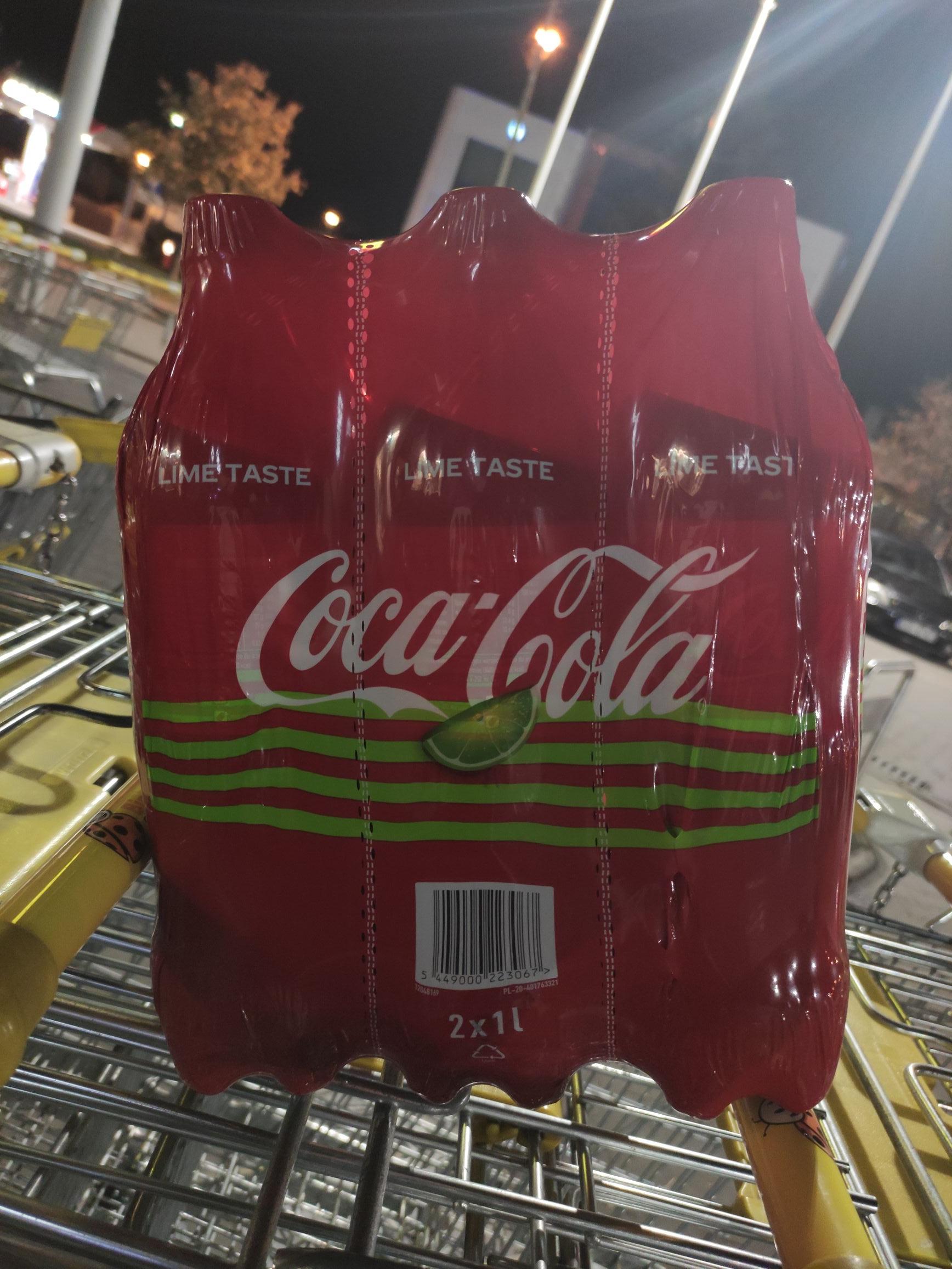 Coca Cola Lime / Peach / Cherry 2x1l za 3.98zł - Biedronka