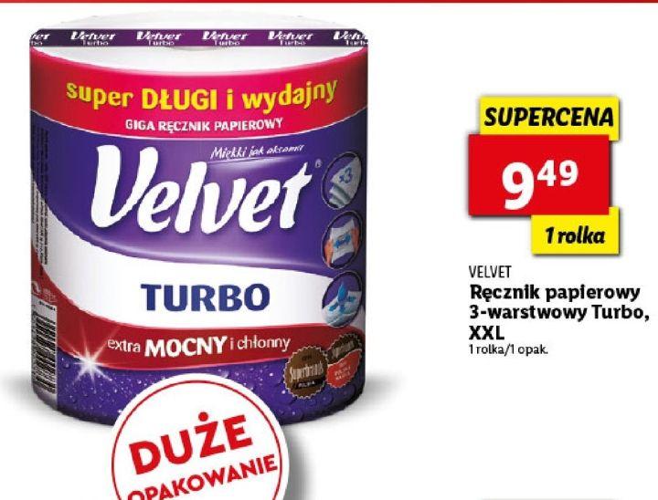 Ręcznik papierowy 3-warstwowy, Velvet Turbo XXL, Lidl