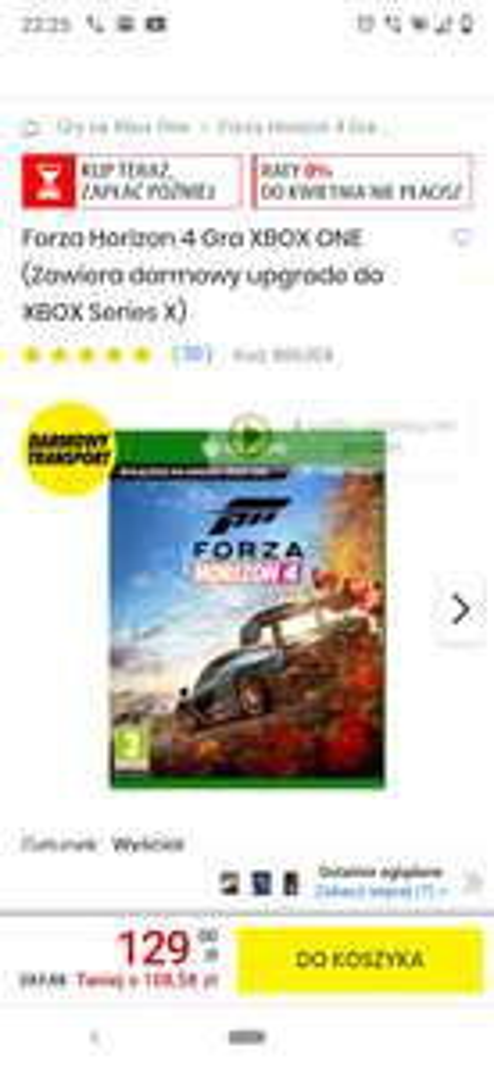 Forza horizon 4 xbox one series x media expert electro