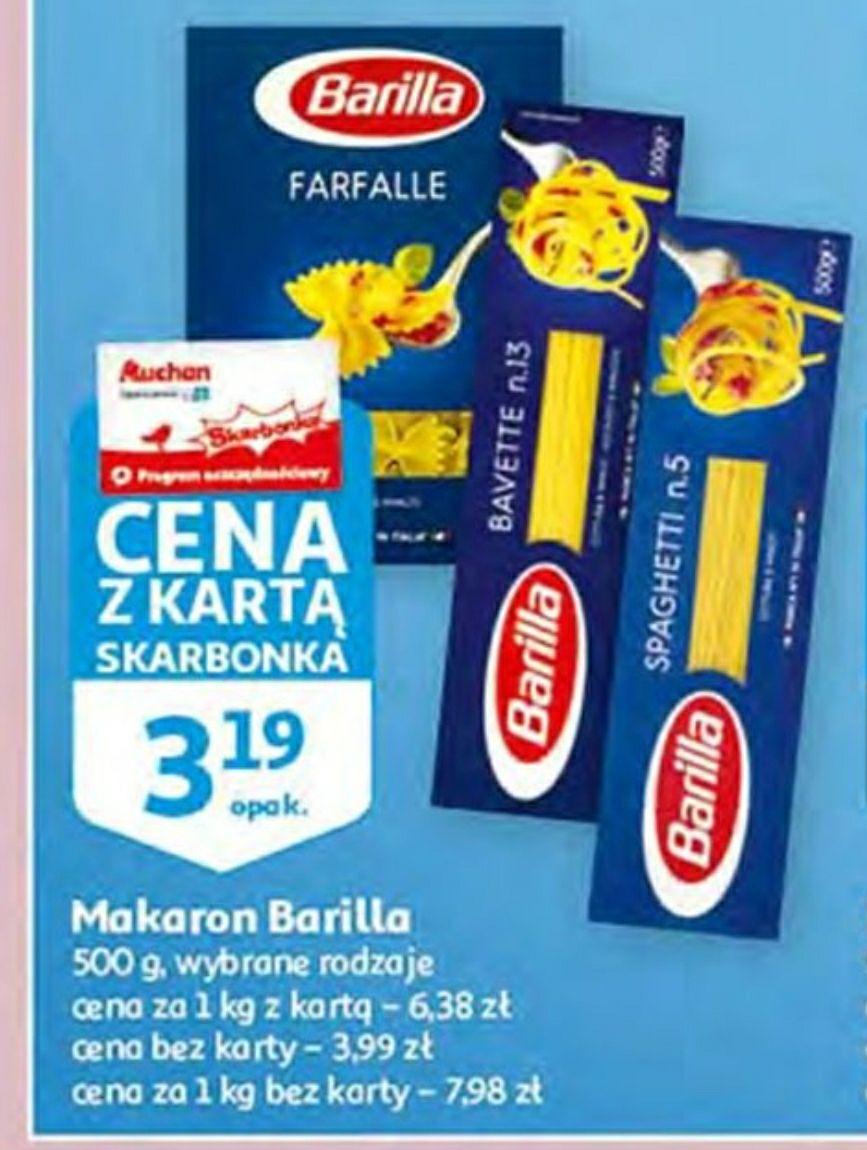 Makaron Barilla - 3.19zł - Auchan z kartą