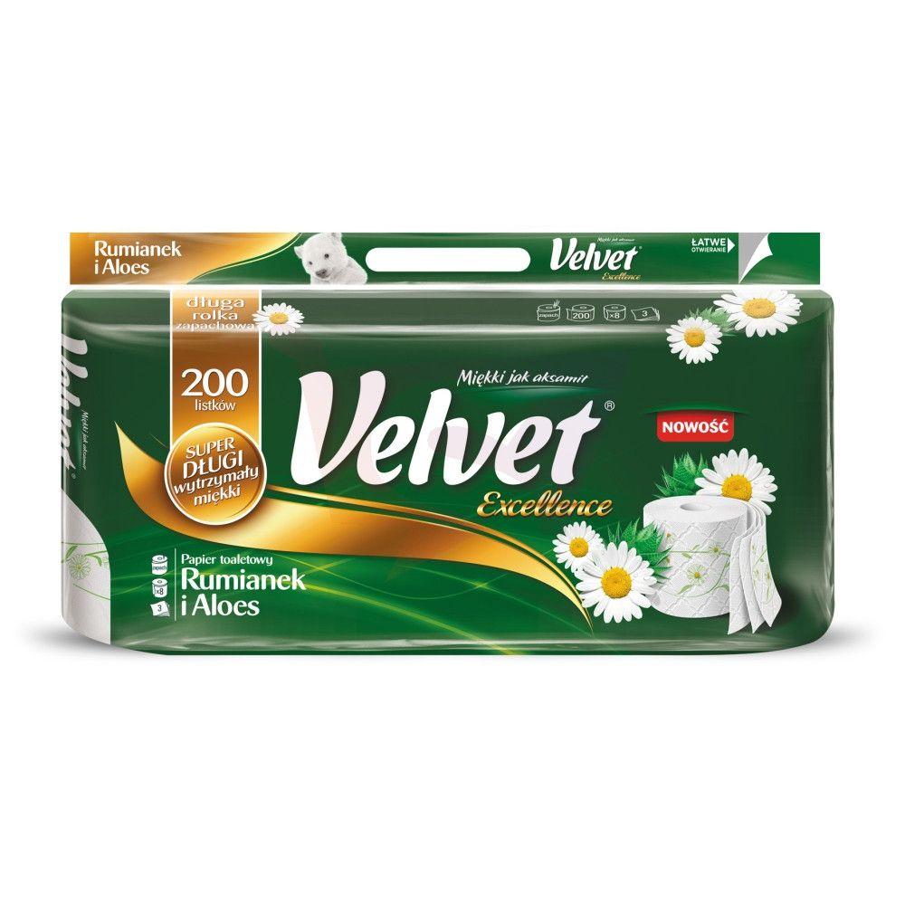Papier Velvet Excellence 8 rolek za 5.66zł przy zakupie 2 sztuk + dostawa 13zł
