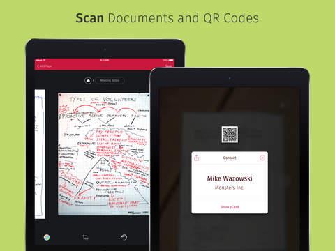 Scanbot (skanowanie dokumentów, kodów QR, OCR i inne) ZA DARMO (Android, iOS) @ iTunes