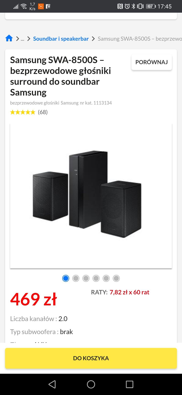 Samsung SWA-8500S – bezprzewodowe głośniki surround do soundbar Samsung