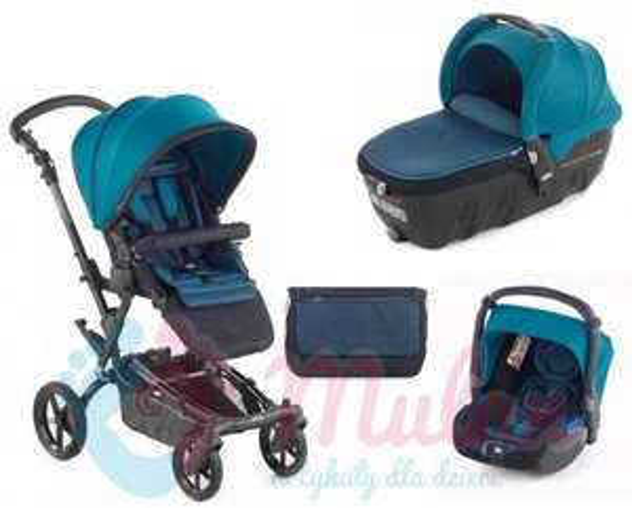 Jane EPIC 3w1 wózek + gondola Transporter 2 + fotelik Koos - S46 Teal