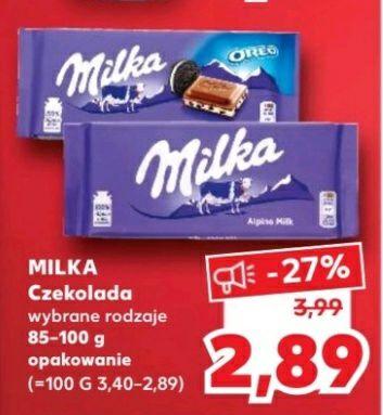 Czekolada Milka Kufland wybrane rodzaje 85-100g
