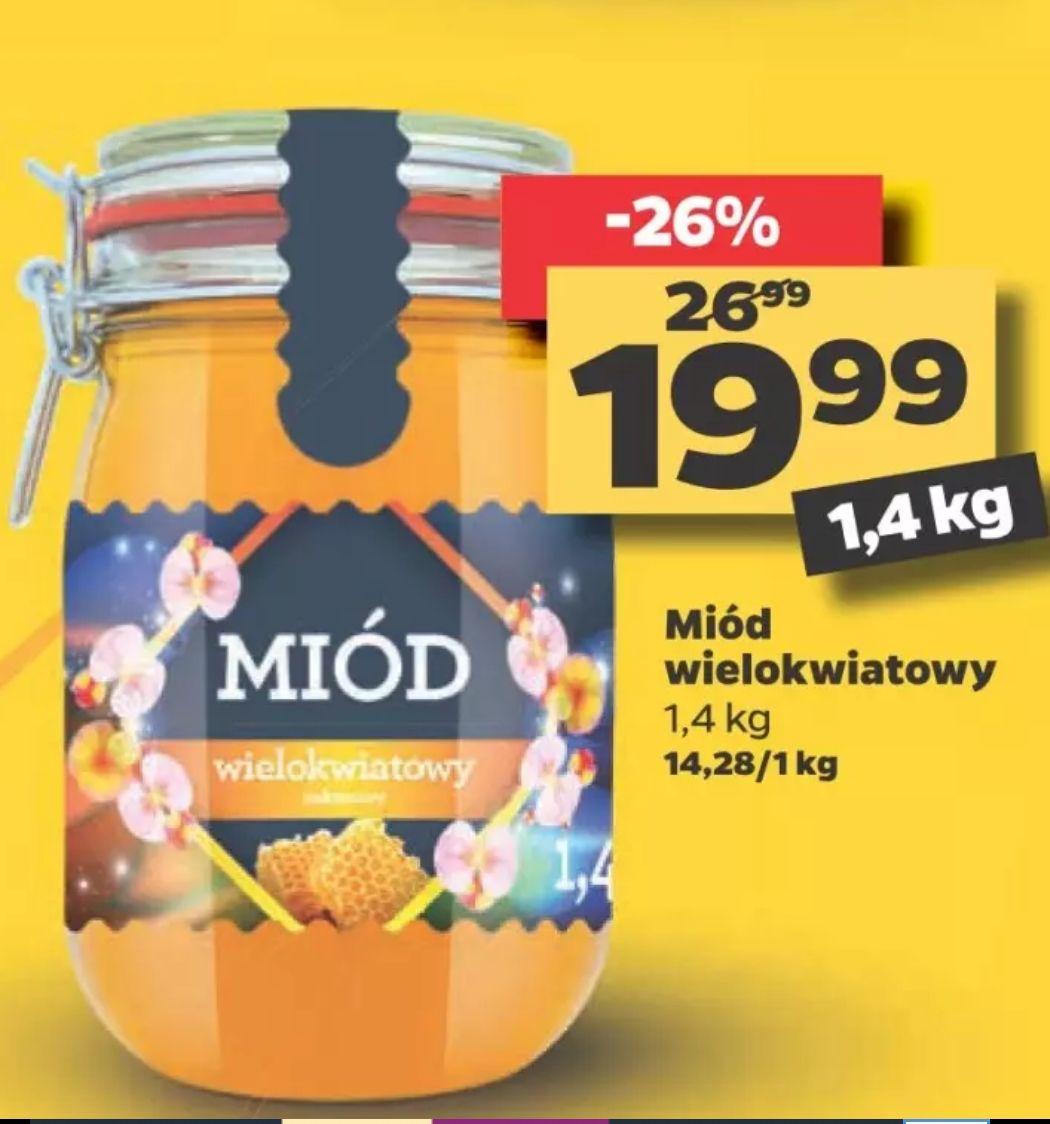 Miód wielokwiatowy nektarowy 1,4kg w Netto