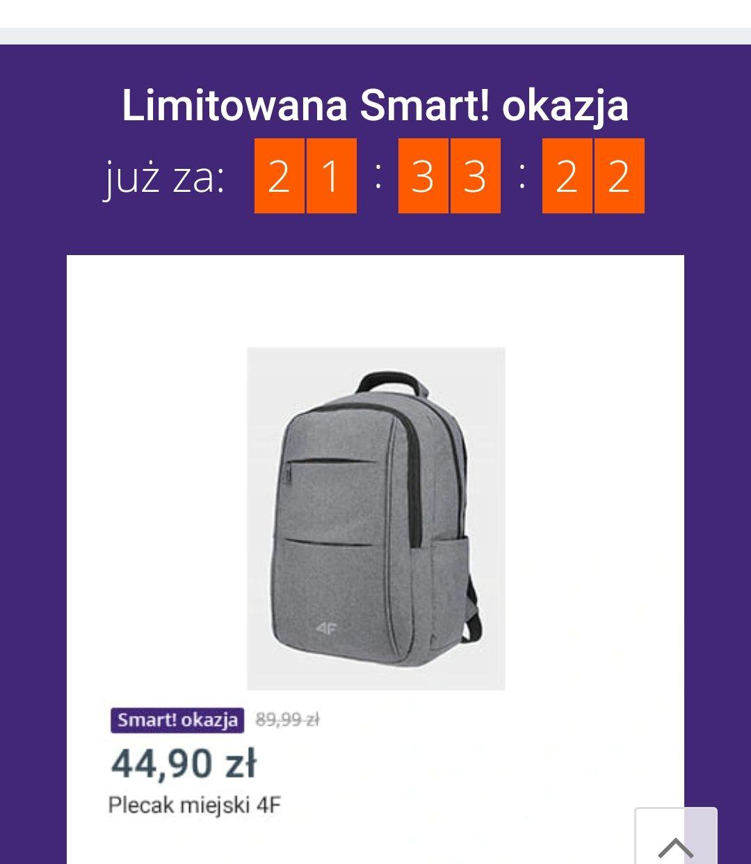 Plecak miejski 4f w Smart okazjach Allegro