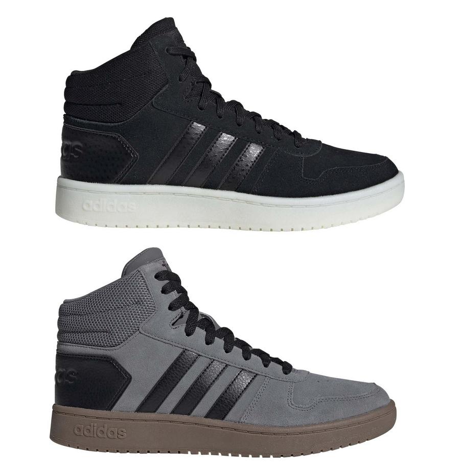 Damskie i męskie buty zamszowe Adidas Hoops 2.0 MID - pełna rozmiarówka
