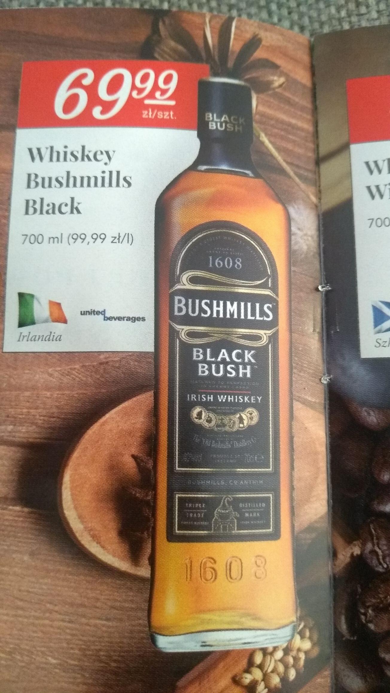 Whiskey Black Bush Bushmills 700ml w Stokrotka