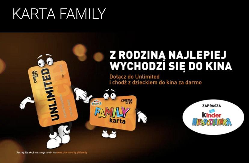 Cinema city - 6 biletów za darmo z karta family