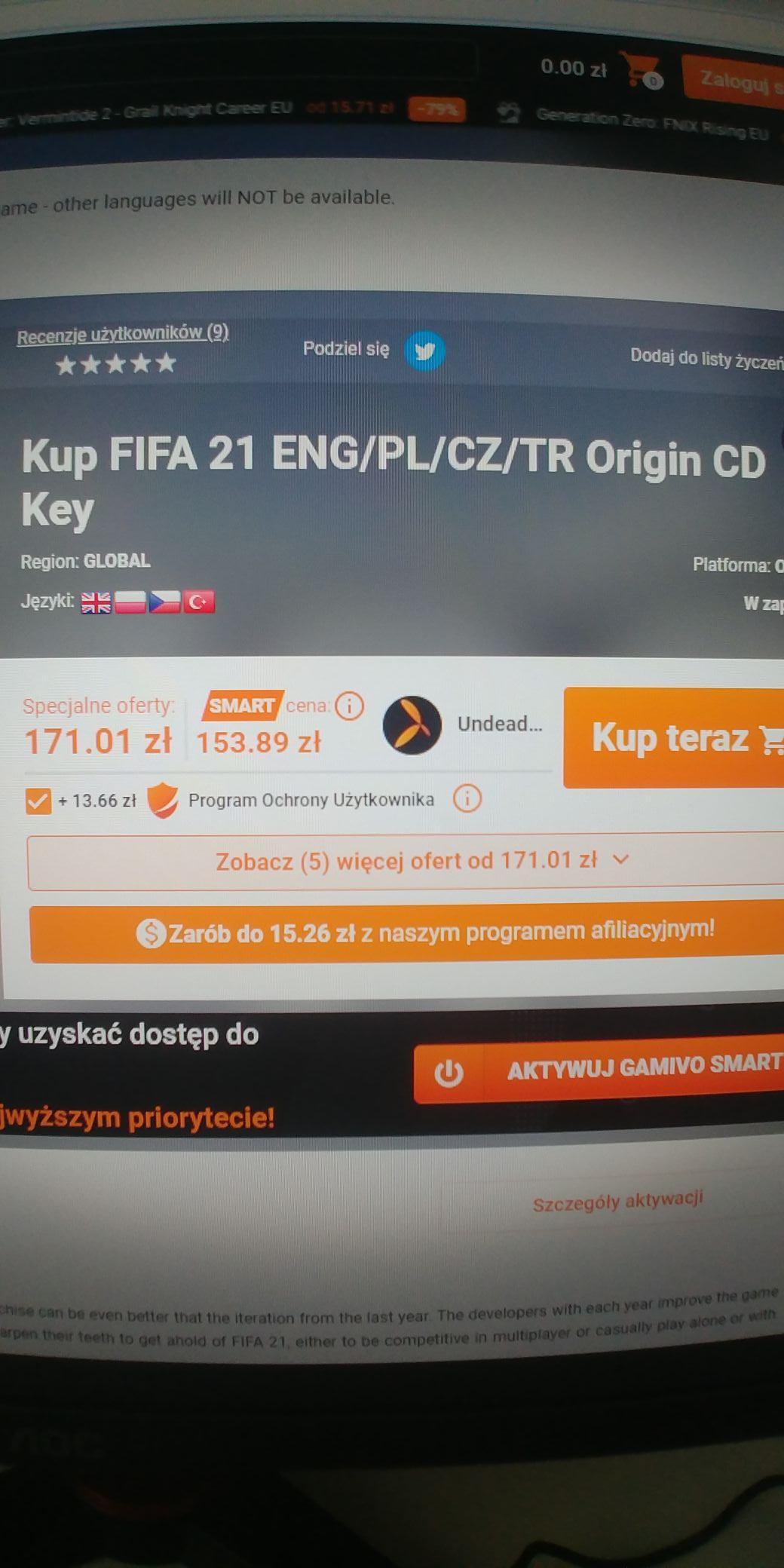 Fifa 21 pl Origin Cd key
