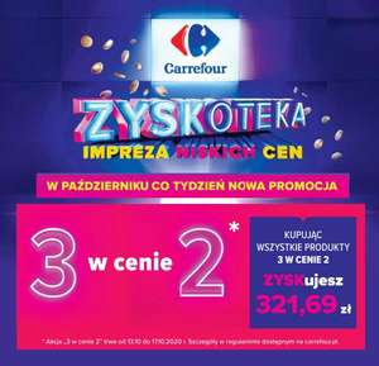 ZYSKOTEKA kup 3 w cenie 2 (Masło Łaciate 2.99zł) - Carrefour