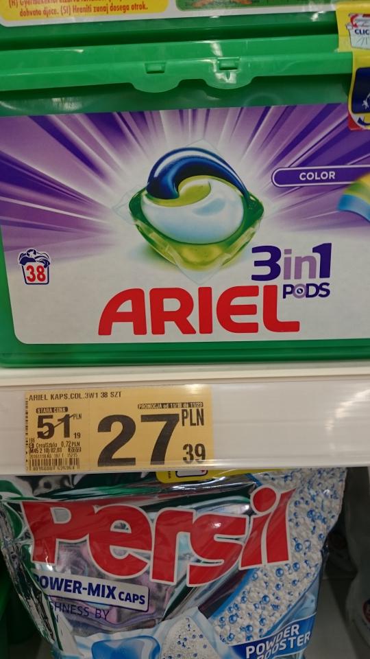 Auchan. Promocja na kapsułki do prania.