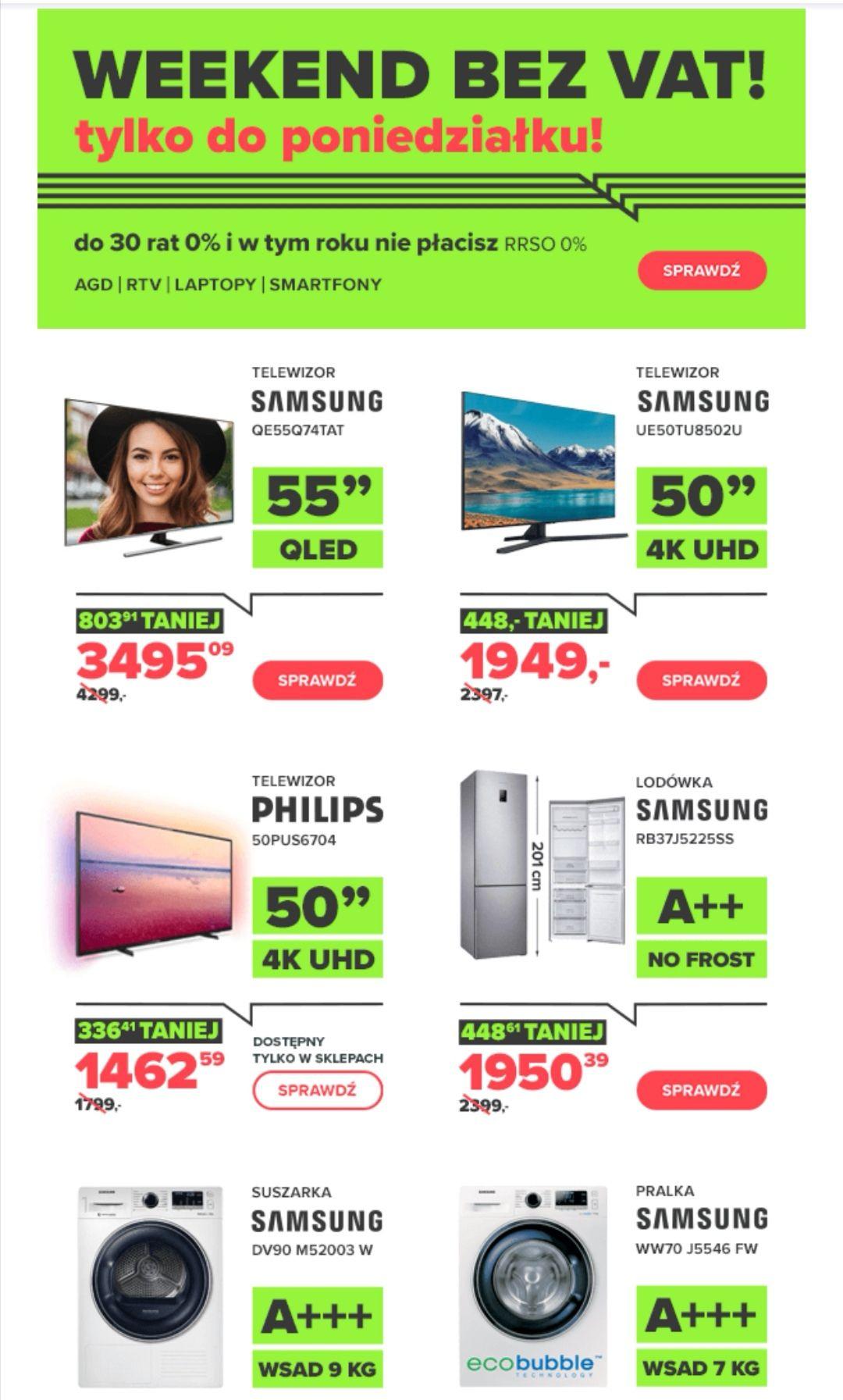 Weekend bez VAT w Neonet, m. in. Telewizor Phillips 50PUS6704