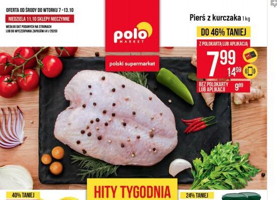 Pierś z kurczaka 1kg (cena z polokartą, bez 9.99 zł) @polomarket