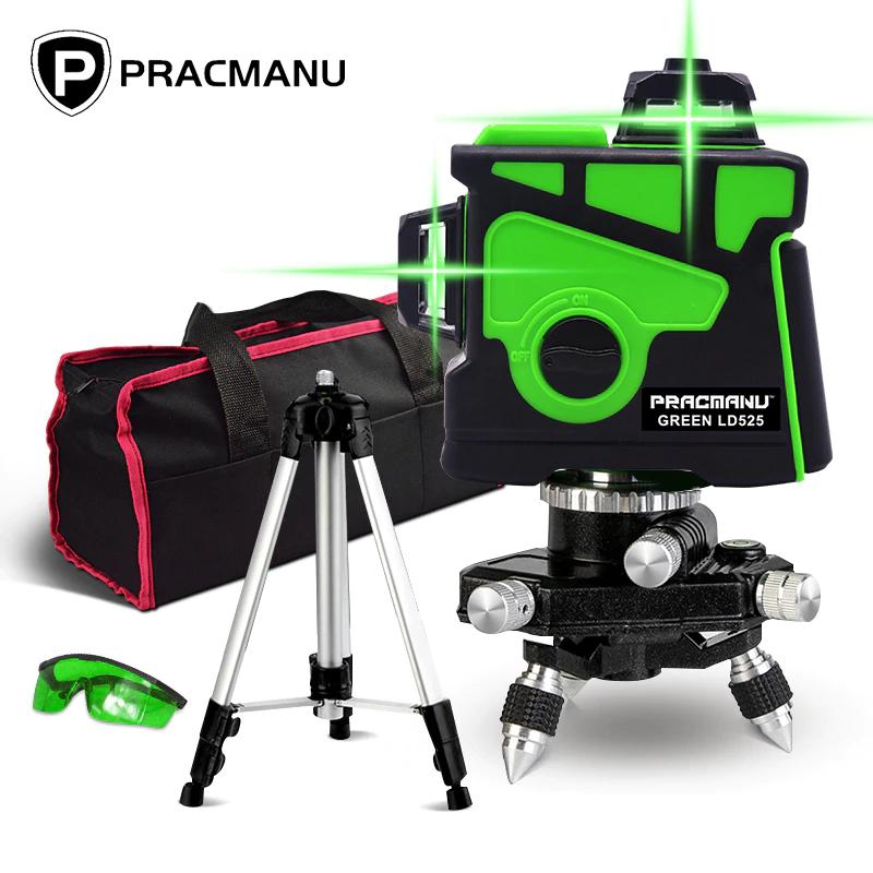 PRACMANU - Poziomica laserowa. 12 linie 3D. Auto samopoziomująca US $49.07