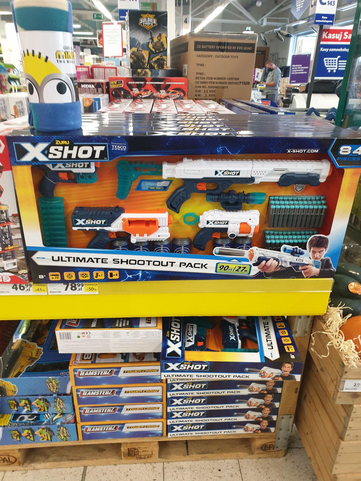 Zuru X Shot Ultimate Shootout Pack GIGA ZESTAW 8+ z 156.88 na 78.99 tesco Nisko