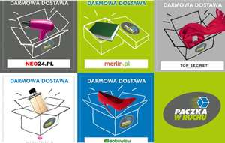 Darmowa dostawa Paczka w Ruchu: neo24, top secret, merlin, pachnidełko, eobuwie