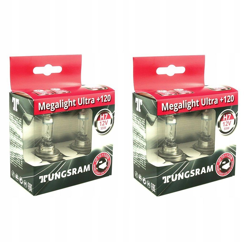 2 KOMPLETY TUNGSRAM H7 MEGALIGHT ULTRA +120% E1
