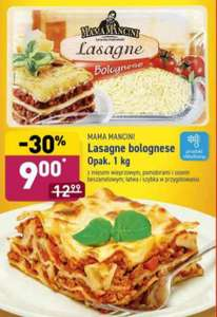Lasagne bolognese 1kg. Aldi