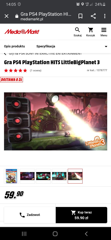Littlebigplanet 3 przecena gry na PlayStation 4