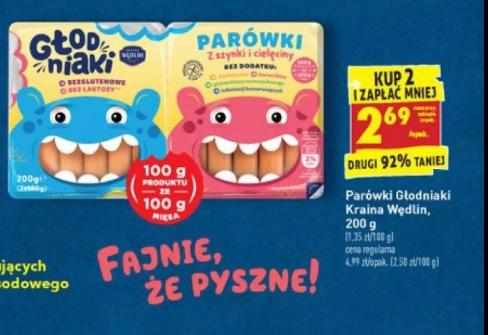Głodniaki paròwki dla dzieci 200g przy zakupie 2szt. @Biedronka