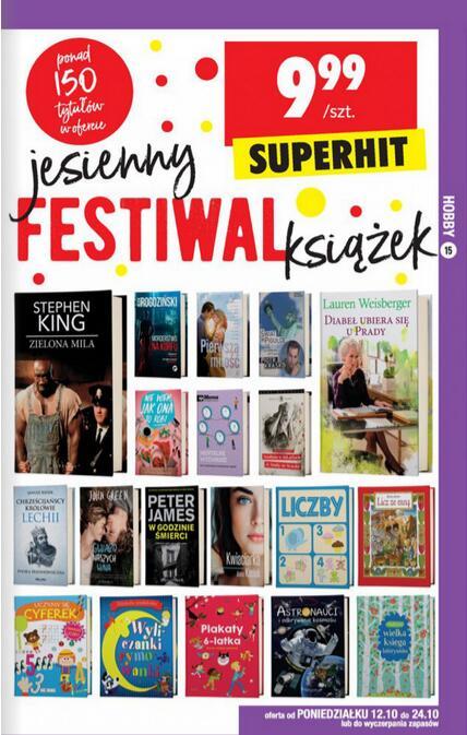 Festiwal książek w Biedronce