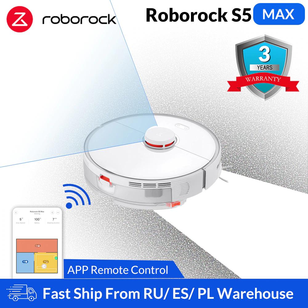 Roborock S5 Max 3 lata gwarancji, wysyłka z polski @ Aliexpress