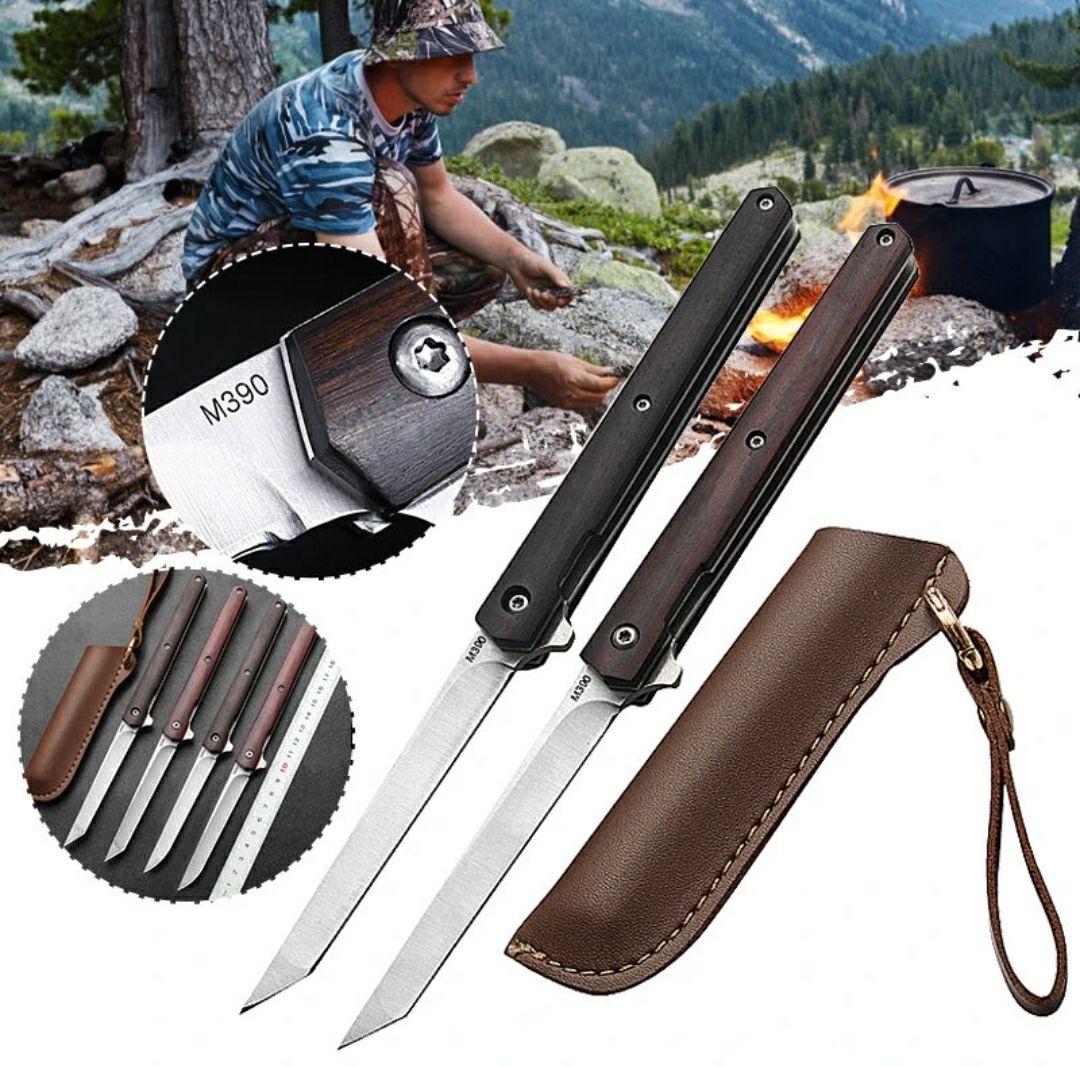 XANES® M390 20 cm nóż + skórzany pokrowiec @Banggood