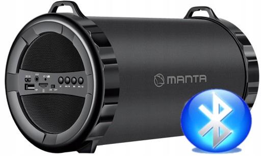 Głośnik mobilny MANTA SPK 204FM z bluetooth