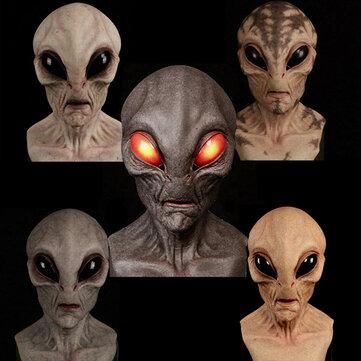Maska lateksowa - obcy/alien tworzywo skóropodobne, halloween @ banggood