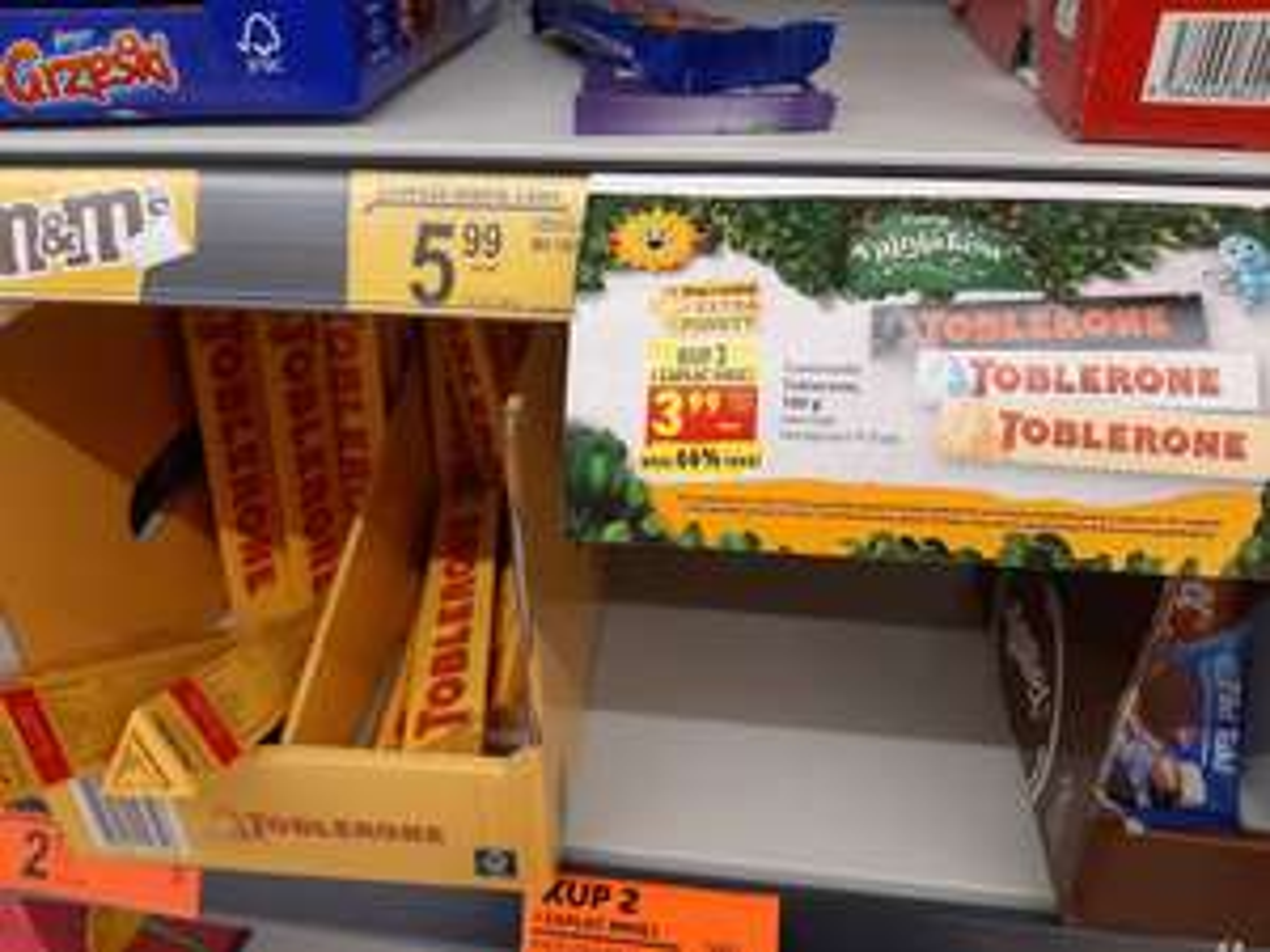 Toblerone przy zakupie 2szt. @ biedronka