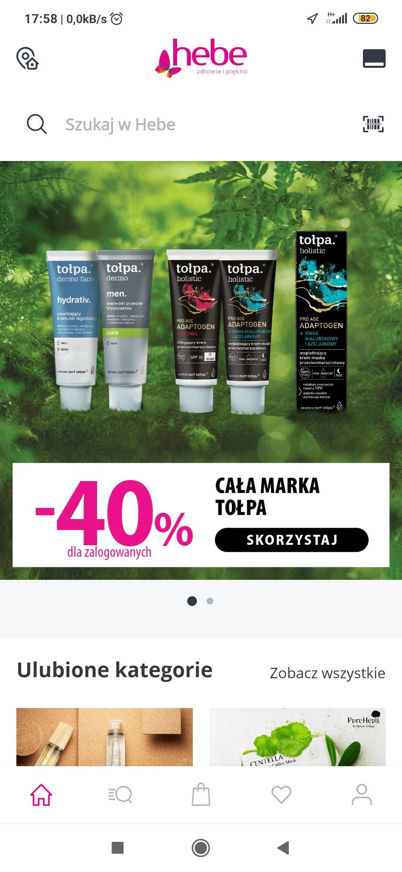 Wszystkie kosmetyki Tołpa dla zalogowanych -40%, hebe dla zalogowanych