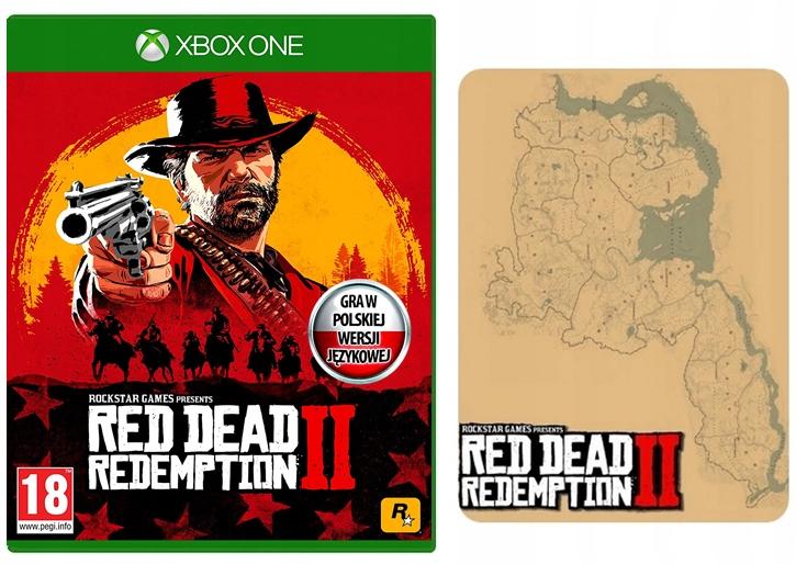 RED DEAD REDEMPTION II 2 XboxONE PL MAPA NowaFolia