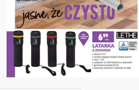 Latarka LED z zoomem, baterie 3xAAA w zestawie @Biedronka