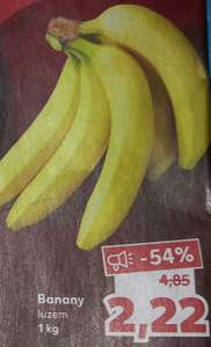Superłup: Banany 2.22zł/kg (17.10.2020)