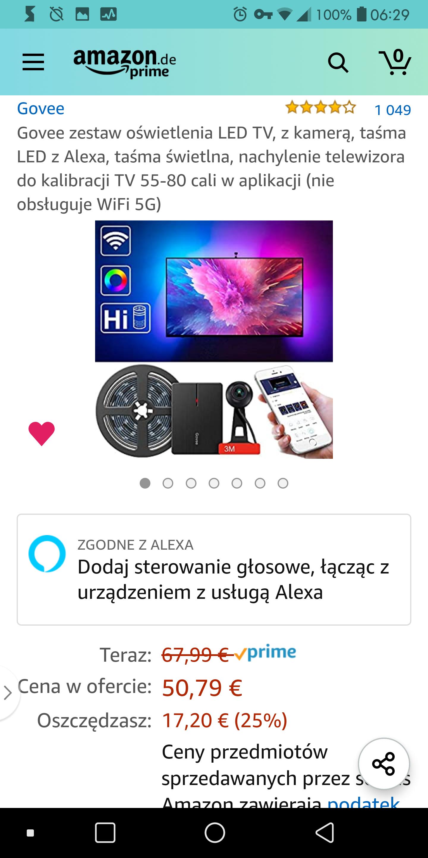 Govee tv - alternatywa dla Ambilight (Prime) €50,79