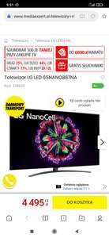 Telewizor LG LED 65NANO867NA