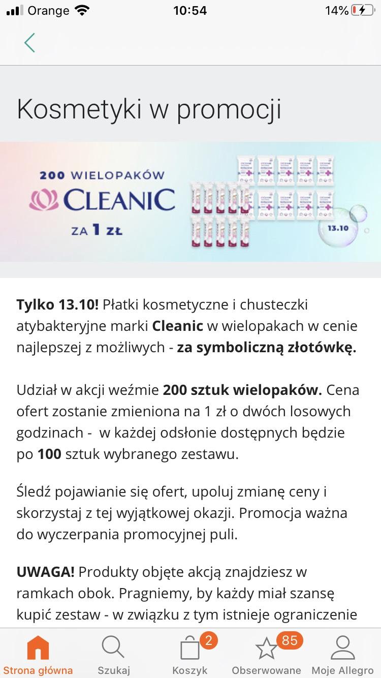 Allegro cleanic za 1zl