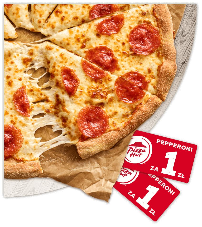Pizza Hut i Mastercard zapłać kartą mastercard za zamówienie i otrzymaj kupon na małą pizze pepperoni za 1zł.