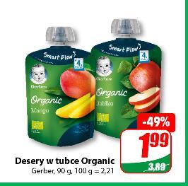 Gerber Desery w tubce Organic 90/100g @Dino