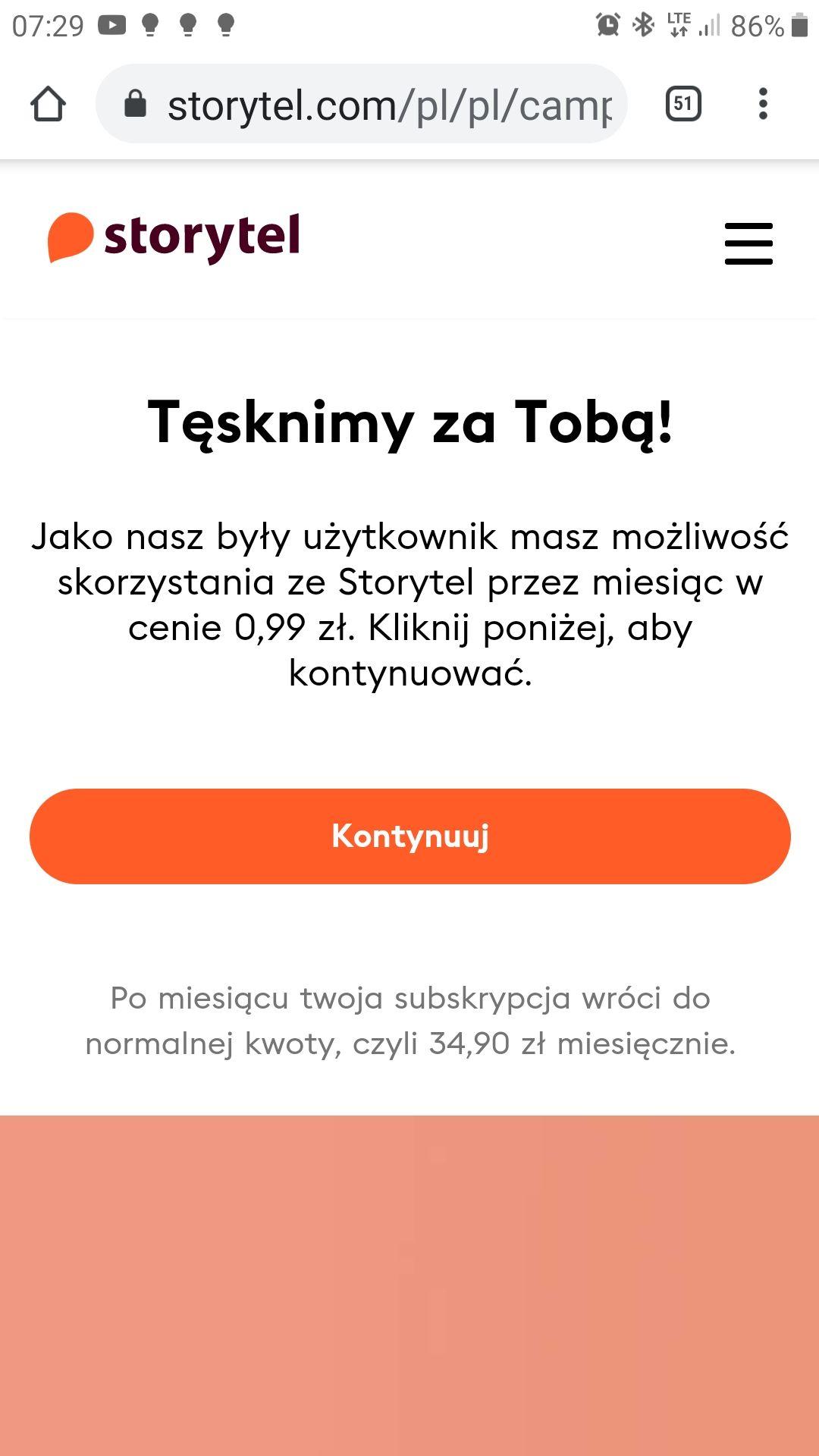 STORYTEL dla powracających użytkowników audiobooki i e-booki