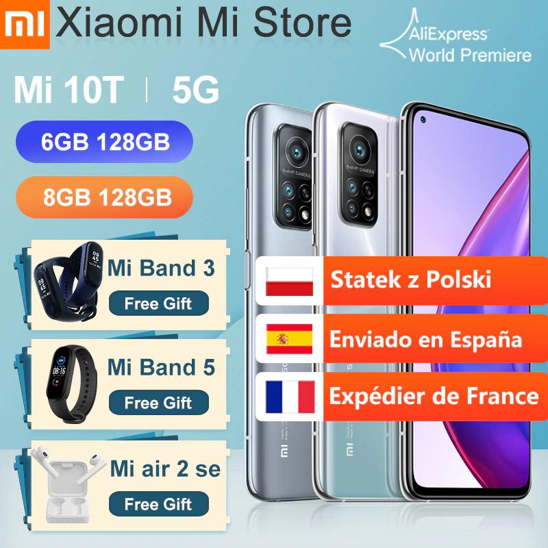 """Smartfon Xiaomi Mi 10T 5G z wysyłką z Polski (5G, Snapdragon 865, ekran 6,67"""" 144Hz, 6/128GB) @ AliExpress"""