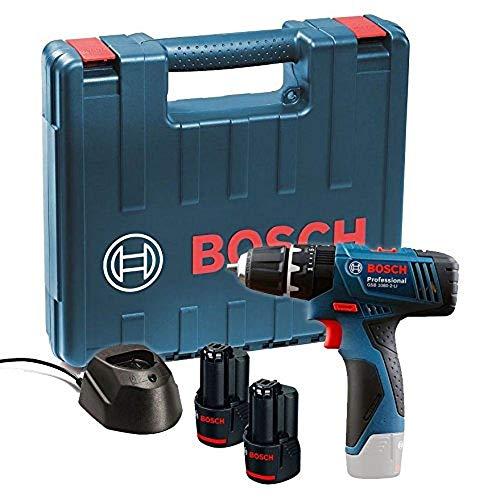 Wiertarko-wkrętarka akumulatorowa BOSCH GSB 120-LI, 2 x bateria, ładowarka i walizka [Amazon Prime UK]