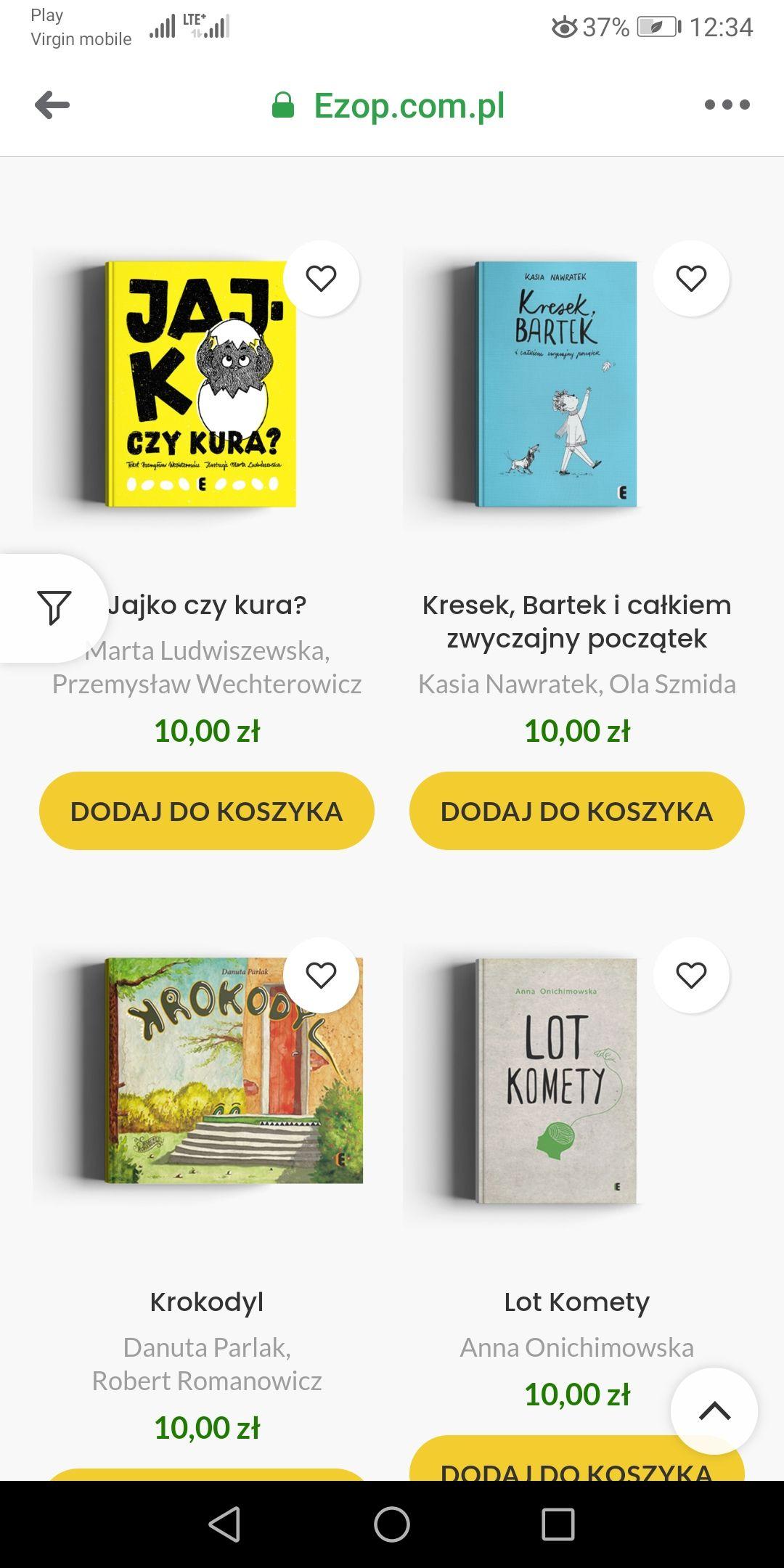 Książki po 10 zł za sztukę Eztop.com.pl