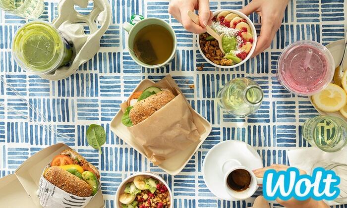 3x15zł lub 6x10zł na pierwsze zamówienie jedzenia z dostawą w WOLT @ Groupon